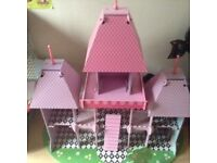 Early learning pink wooden princess castle