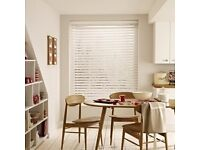 Venetian blinds from Hillary's blinds - white ivory - 1 blind £20/ 2 blinds £35 all 3 £50