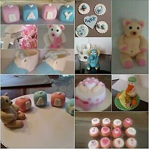Baby Shower Cake & Cupcake Toppers