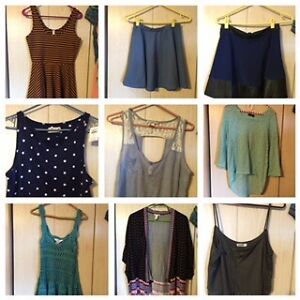 Assorted Casual Chic Skirts and Tops. Various Trendy Vendors.