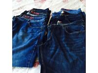 Next mens loose fit 38 Regular jeans; 6 pairs varying colours some pairs hardly warn