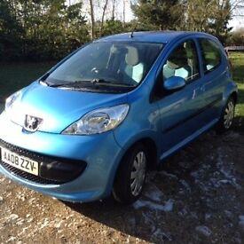 Peugeot 'Urban Move' 107 Hatchback Blue Petrol