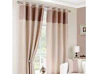 Dunelm Montreal Taupe Lined Eyelet Curtains