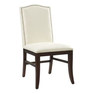 Leather Dining Chair in Ivory