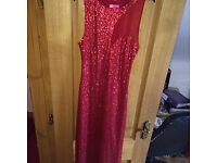 Red Sequence Formal Dress Size 10