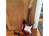 Gigsby electric guitar as new in maple red