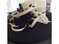 Jacques Vert navy and cream hat suitable for the Mother of the Bride
