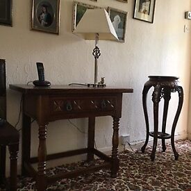Wooden Telephone Table with decorative features