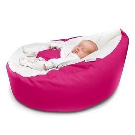 Lovely Raspberry Colour Baby Gaga Bean Bag Chair RRP GBP70