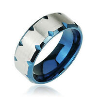Blue Stainless Steel Edge Cut Ring