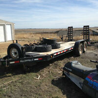 22' Sokol Beaver Tail Flat Deck Trailer
