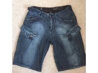 G-STAR RAW denim shorts , size Small (w29-30)