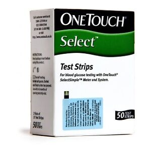 50-Test-Strips-for-One-Touch-Select-Simple-Glucometer-New-MRP-1095