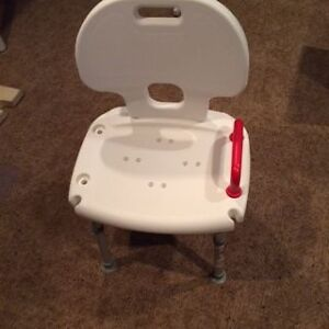 Dana Douglas Shower Seat with Back and Red handle