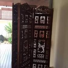 VERY Old Handcarved Bi Fold Screen Milton Shoalhaven Area Preview