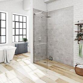 Wet room panel 800mm wide
