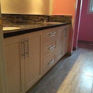"""New - 4 Door, 3 Drawer Sink Vanity only - 60"""" in 6 colors"""