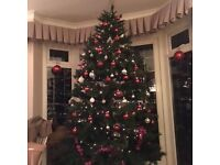 Christmas Tree artificial, 7ft, green, colour coded branches, boxed, with stand.