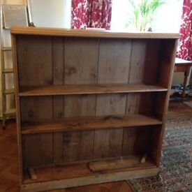 Solid pine wood, book shelves/ storage unit, freestanding or wall mounted