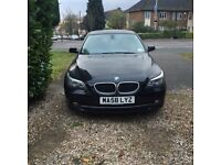 BMW 5 series, manual Diesel, black, very good condition, all leather, full history service