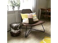 IKEA RADVIKEN armchair, rattan, Scandinavian, dark brown/black armchair SALE
