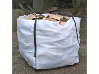 Seasoned logs, large/small/ sold per ton bag, fire wood