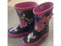 Joules size 11 kids wellies
