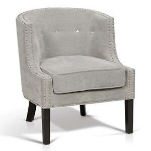 Transitional Fabric Tub Chair