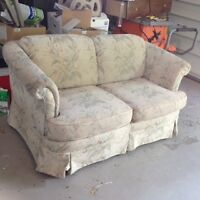 free older love seat and slip cover