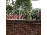 Wrought iron Scrolled Style Fencing panels
