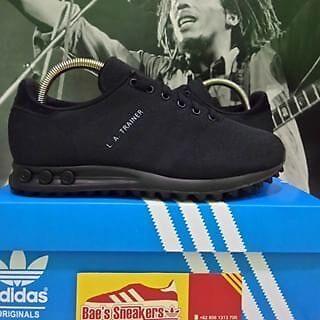 adidas originals la trainer weave triple black