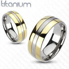 Titanium Gold Rings for Men