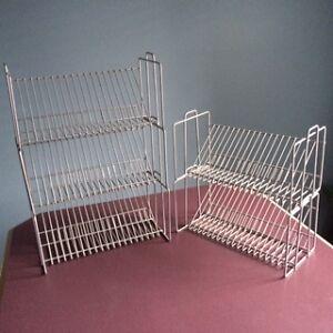 Set of 5 Stackable CD/DVD silver chromed metal racks Cambridge Kitchener Area image 2