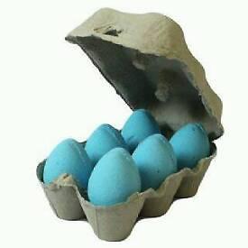 6 Blueberry bath eggs