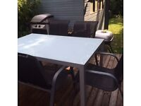 Large Garden Table complete with six chairs