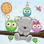 Crystal Card kit diamond painting Birthday Friends 18 x 1...