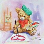 Crystal Card kit diamond painting Teddy 18 x 18 cm
