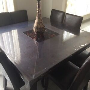 Timber table and dinning chairs Abbotsbury Fairfield Area Preview