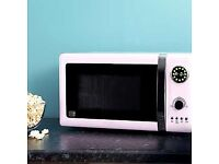 Dunelm pink microwave