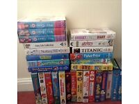 Video tapes of mostly children's and a few films, TV series