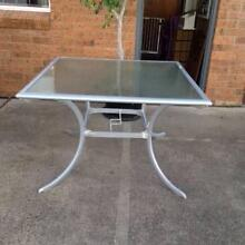 SQUARE GLASS TOP OUTDOOR TABLE Coffs Harbour 2450 Coffs Harbour City Preview