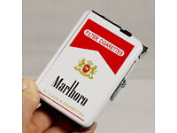 Wholesale/joblot Double Ejection Cigarette Lighter Case Box Holder Windproof Dispen