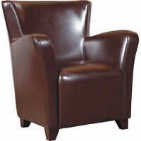2 Fauteuils en cuir brun - 2 Brown Leather Chairs
