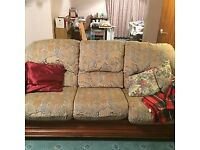 3 piece matching suite (sofa + 2 armchairs)
