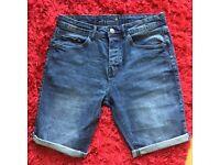 Blue denim shorts W: 32 slim fit