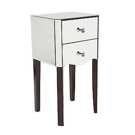 Viola Smoke Mirrored Dressing table and Bedside Cabinets