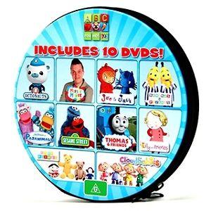 ABC FOR KIDS - 10-DISC DVD TIN: Sesame Street, Octonauts, Play School, Thomas