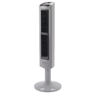 Lasko Oscillating Tower Fan with Twin Grills Black T38301