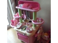 Large early learning pink kitchen