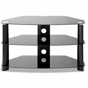 "Brand new Leons corner glass chrome modern TV Stand 32"" 36"" 42"""